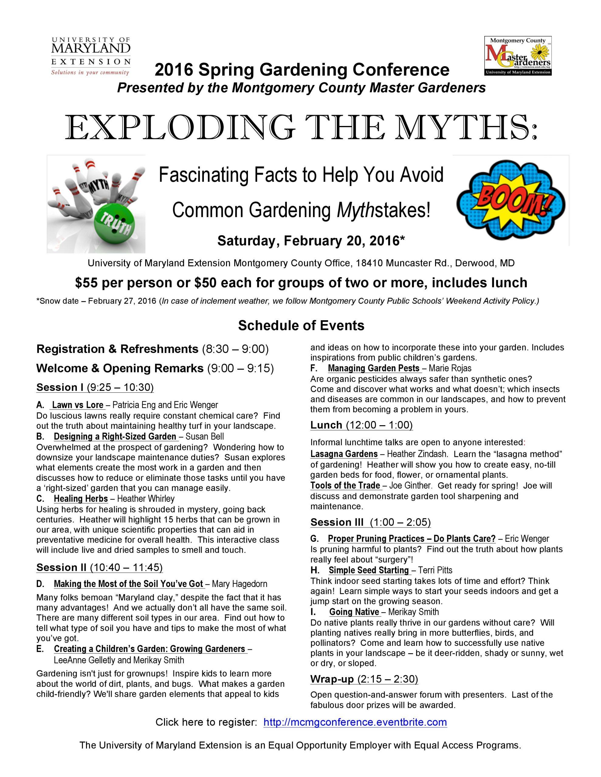 spring gardening conference